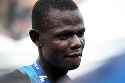 November 12, 2017 - Athens, Attica, Greece - Samuel Kalalei of Kenya wins the 35th Athens Classic Marathon at the Panathenaic stadium in Athens , Greece, November 12, 2017. (Credit Image: © Giorgos Georgiou/NurPhoto via ZUMA Press)