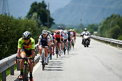 Tayler Wiles (USA) in the lead group on Stage 5 of 2019 Giro Rosa Iccrea, a 88.8 km road race from Ponte in Valtellina to Lago di Cancano, Italy on July 9, 2019. Photo by Sean Robinson/velofocus.com