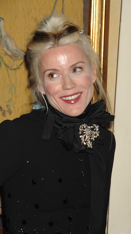 DAPHNE GUINNESS at a dinner hosted by the Italian Ambassador for the Buccellati family held at the Italian Embassy, Grosvenor Square, London on 28th March 2007.<br />