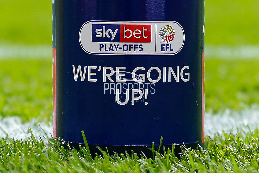 Celebration champagne bottle after the EFL Sky Bet League 2 Play Off Final match between Newport County and Tranmere Rovers at Wembley Stadium, London, England on 25 May 2019.