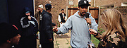 WILEY GIVES AN INTERVIEW TO BBC RADIO 1XTRA. LIMEHOUSE, EAST LONDON 2005