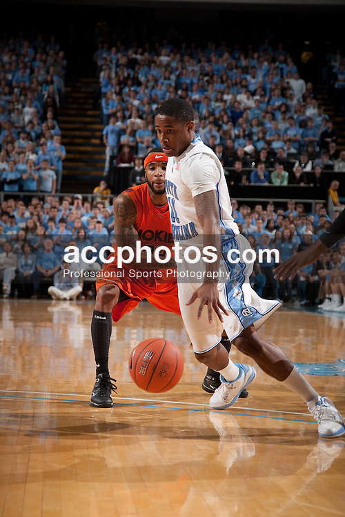 10 January 2010: North Carolina Tar Heels guard Larry Drew II (11) during a 78-64 win over the Virginia Tech Hokies at the Dean E. Smith Center in Chapel Hill, NC.