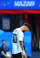 Soccer Football - World Cup - Round of 16 - France vs Argentina - Kazan Arena, Kazan, Russia - June 30, 2018 Argentina s Lionel Messi reacts FOOTBALL : France vs Argentine - Coupe du Monde 2018 - Kazan - 30/06/2018 AI/Reuters/Panoramic PUBLICATIONxNOTxINxFRAxITAxBEL AI