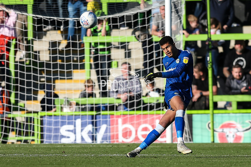 Forest Green Rovers goalkeeper Robert Sanchez(1) during the EFL Sky Bet League 2 match between Forest Green Rovers and Cheltenham Town at the New Lawn, Forest Green, United Kingdom on 20 October 2018.