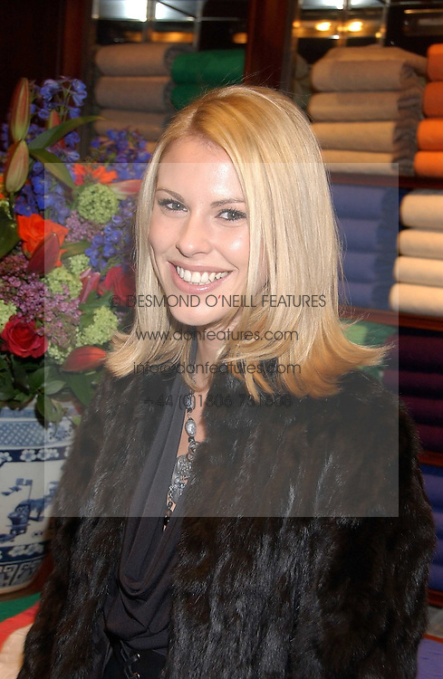PETRINA KHASHOGGI at a party at Ralph Lauren, Bond Street, London in support of the NSPCC's Full Stop campaign on 21st March 2006.<br />