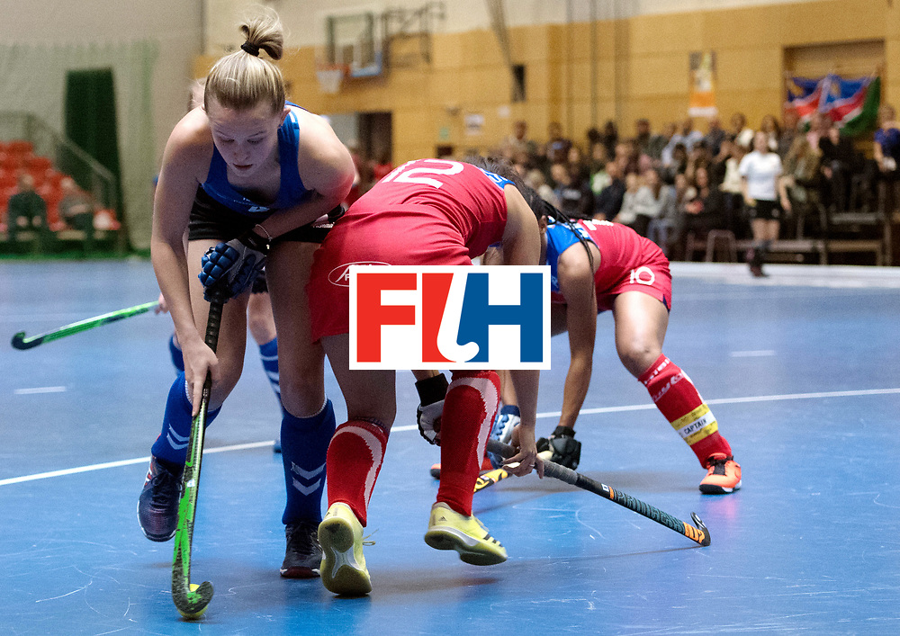 BERLIN - Indoor Hockey World Cup<br /> United States - Namibia<br /> foto: Corinne Zanolli and Gillian Hermanus <br /> WORLDSPORTPICS COPYRIGHT FRANK UIJLENBROEK