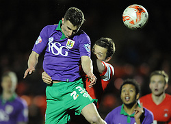 Bristol City's Joe Bryan challenges for the ball with Leyton Orient's David Mooney - Photo mandatory by-line: Dougie Allward/JMP - Mobile: 07966 386802 - 03/03/2015 - SPORT - football - Leyton - Brisbane Road - Leyton Orient v Bristol City - Sky Bet League One