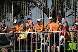 Dutch supporters<br /> Dressage test evening<br /> Olympic Games Rio 2016<br /> © Hippo Foto - Dirk Caremans<br /> 06/08/16