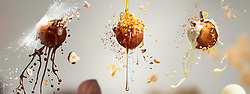 Series of images created for Air Balls - Portugese doughnuts in midair.