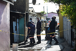 SOUTH AFRICA  - Cape Town - 26 May 2020 - Two men, two women and a three-year-old boy died in a fire in Crossroads late last night. A search of the property led to the discovery of the bodies of a man, woman and a three-year-old boy in the garage and another two bodies of a man and woman in the bedroom on the ground floor.photograph;Phando Jikelo/African News Agency(ANA)