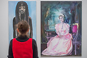 'Great Britain' 1995-7– Dumas's powerful double portrait of Princess Diana and Naomi Campbell - A new exhibition of paintings by Marlene Dumas at the Tate Modern opens on 5th Feb. It is one of the most significant displays of her work ever to be held in Europe, bringing together over 100 of her most important and iconic figurative paintings from throughout her career. The three key items/sets are:  'Great Britain' – Dumas's powerful double portrait of Princess Diana and Naomi Campbell, on loan from a private collection; A group of Dumas's iconic large-scale portraits, including friends, family, figures from history and celebrities such as Amy Winehouse; 'Rejects' – a huge grid of 40 powerful black-and-white portrait paintings which Dumas has created over twenty years.