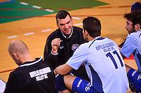 Loic LE MARREC / Franck LAFITTE / Philip SCHNEIDER  - 13.12.2014 - Tourcoing / Montpellier - 11eme journee de Ligue A<br /> Photo :  Dave Winter / Icon Sport *** Local Caption ***