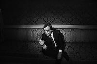 PALERMO, ITALY - 26 June, 2012: Mayor of Palermo Leoluca Orlando, 64,  in his city hall office at the Palazzo delle Aquile in Palermo, Italy, on June 26, 2012. Leoluca Orlando, who became mayor of Palermo for the 4th time in May 2012 after taking part in the final round against Fabrizio Ferrandelli and won the runoff with 72% of the ### PALERMO, ITALIA - 26 giugno 2012: Il sindaco di Palermo Leoluca Orlando, 64 anni, nel suo ufficio al Palazzo delle Aquile a Palermo il 26 giugno 2012. Leoluca Orlando, è diventato sindaco per la quarta nel maggio 2012 dopo aver partecpato al ballottaggio contro il suo delfino Fabrizio Ferrandelli e dopo aver vinto con il 72% dei voti.
