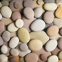 Smooth pebbles stones (close-up)