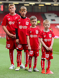 Mascots warm up - Rogan Thomson/JMP - 22/10/2016 - FOOTBALL - Ashton Gate Stadium - Bristol, England - Bristol City v Blackburn Rovers - Sky Bet EFL Championship.