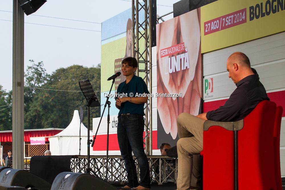 Bologna 27 Agosto 2014 - Inaugurazione Festa Nazionale de L'Unit&agrave;. Che storia, il futuro!<br /> Nella foto: