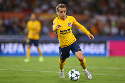 September 12, 2017 - Rome, Italy - Antoine Griezmann of Atletico  during the UEFA Champions League Group C football match between AS Roma and Atletico Madrid on September 12, 2017 at the Olympic stadium in Rome. (Credit Image: © Matteo Ciambelli/NurPhoto via ZUMA Press)
