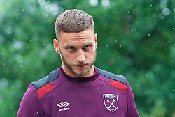 25.07.2017, Trainingsplatz TuS Bothel, Bothel, GER, Trainingslager, West Ham United, im Bild Marco Arnautovic auf dem Weg zum Platz // during a trainingsession at the trainingscamp of the English Premier League Football Club West Ham United at the Trainingsplatz TuS Bothel in Bothel, Germany on 2017/07/25. EXPA Pictures &copy; 2017, PhotoCredit: EXPA/ Andreas Gumz<br /> <br /> *****ATTENTION - OUT of GER*****