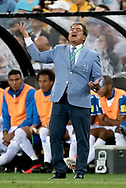 SYDNEY, NSW- NOVEMBER 15: Honduras head coach Jorge Luis Pinto unhappy with the call at the Soccer World Cup Qualifier between Australia and Honduras on November 10, 2017. (Photo by Steven Markham/Icon Sportswire)