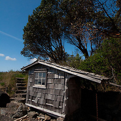 Boat House, Yellow Island, San Juan Islands, Washington, US