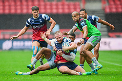 Will Hurrell of Bristol Bears is tackled by Nathan Earle of Harlequins - Mandatory by-line: Ryan Hiscott/JMP - 22/09/2018 - RUGBY - Ashton Gate Stadium - Bristol, England - Bristol Bears v Harlequins - Gallagher Premiership Rugby