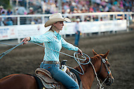 Breakaway roper Stevie Ray Willis at the Vale 4th of July Rodeo on July 2, 2016 in Vale, Oregon.