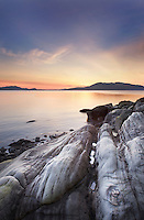 Samish Bay sunset, Larrabee State Park Washington