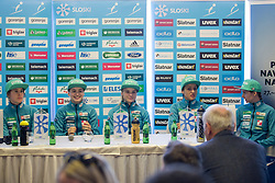 Ursa Bogataj, Nika Kriznar, Spela Rogelj, Maja Vtic and Katja Pozun during press conference before FIS Ski World Cup Ladies competition in Ljubno 2018 on January 24, 2018 in BTC, Ljubljana, Slovenia. Photo by Urban Urbanc / Sportida