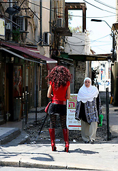 Jaffa  - May  2nd,  2008 -  People out in Jaffa, Israel,  May 2nd, 2008. Picture by Andrew Parsons / i-Images