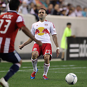 New York Red Bulls player Brandon Barklage in action during the New York Red Bulls V Chivas USA Major League Soccer match at Red Bull Arena, Harrison, New Jersey, 23rd May 2012. Photo Tim Clayton
