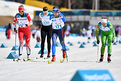 WILKIE Natalie CAN LW8, MILENINA Anna NPA LW8, BATENKOVA-BAUMAN Yuliia UKR LW6, VARONA Larysa BLR LW8 competing in the ParaSkiDeFond, Para Nordic Skiing, Sprint at  the PyeongChang2018 Winter Paralympic Games, South Korea.