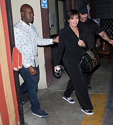 Kris Jenner and her much younger boyfriend Corey Gamble were seen leaving Kris's daughter Kim's 37th Birthday family and friends dinner at the 'Carousel' Lebanese and Armenian Restaurant in Los Feliz, CA. 26 Oct 2017 Pictured: Corey Gamble, Kris Jenner. Photo credit: MEGA TheMegaAgency.com +1 888 505 6342