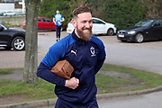 AFC Wimbledon midfielder Scott Wagstaff (7) arriving for the game during the EFL Sky Bet League 1 match between AFC Wimbledon and Bolton Wanderers at the Cherry Red Records Stadium, Kingston, England on 7 March 2020.