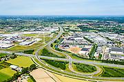 Nederland, Gelderland, Ede, 09-06-2016; knooppunt Maanderbroek, A12 Utrecht-Arnhem (vlnr), A30 richting Barneveld.<br /> Maanderbroek junction, mid Holland. <br /> <br /> luchtfoto (toeslag op standard tarieven);<br /> aerial photo (additional fee required);<br /> copyright foto/photo Siebe Swart