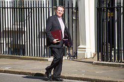 London, July 4th 2017. International Trade Secretary Liam Fox attends the weekly cabinet meeting at 10 Downing Street in London.