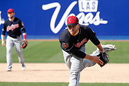 March 18, 2018 - Las Vegas, NV, U.S. - LAS VEGAS, NV - MARCH 18: Neil Ramirez (58) of the Indians delivers a pitch during a game between the Chicago Cubs and Cleveland Indians as part of Big League Weekend on March 18, 2018 at Cashman Field in Las Vegas, Nevada. (Photo by Jeff Speer/Icon Sportswire) (Credit Image: © Jeff Speer/Icon SMI via ZUMA Press)