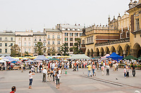 Market Square Rynek glowny in Krakow Poland in September