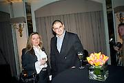 KATE DIXEY AND EDWARD AYDIN, Veuve Cliquot Business Woman Award. Berkeley Hotel 8 April 2008.  *** Local Caption *** -DO NOT ARCHIVE-© Copyright Photograph by Dafydd Jones. 248 Clapham Rd. London SW9 0PZ. Tel 0207 820 0771. www.dafjones.com.