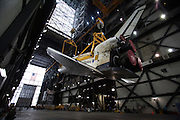 Cape Canaveral, Florida US - The space shuttle Atlantis is moved from Orbiter Processing Facility One to the Vehicle Assembly Building on the morning of Tuesday, May 17, 2011.  Atlantis is scheduled to fly the final mission of the space shuttle program in early July.  (Joel Kowsky/ZUMA Press)