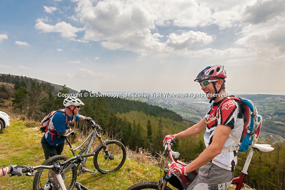 Mountain Biking<br /> Cwmcarn<br /> Caerphilly County<br /> Valleys<br /> South<br /> Activities and Sports