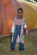 LYNETTE YIADON-BOAKYE, Serpentine's Summer party co-hosted with Christopher Kane. 15th Serpentine Pavilion designed by Spanish architects Selgascano. Kensington Gardens. London. 2 July 2015.