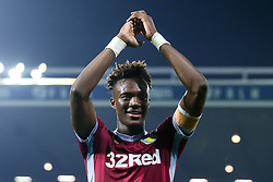 Tammy Abraham of Aston Villa celebrates after his side win on penalties against West Bromwich Albion to book their place in the Sky Bet Championship Playoff Final - Mandatory by-line: Robbie Stephenson/JMP - 14/05/2019 - FOOTBALL - The Hawthorns - West Bromwich, England - West Bromwich Albion v Aston Villa - Sky Bet Championship Play-off Semi-Final 2nd Leg