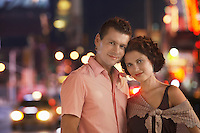 Couple in the City at Night