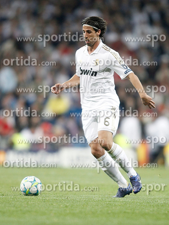 14.03.2012, Santiago Bernabeu Stadion, Madrid, ESP, UEFA CL, Achtelfinal-Rueckspiel, Real Madrid vs ZSKA Moskau, im Bild Real Madrid's Sami Khedira // during the UEFA Champions League round of 16 second leg Match between Real Madrid vs CSKA Moscow at the Estadio Santiago Bernabeu, Madrid, Spain on 2012/03/14. EXPA Pictures © 2012, PhotoCredit: EXPA/ Alterphotos/ Alvaro Hernandez..***** ATTENTION - OUT OF ESP and SUI *****