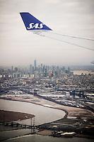 NEW YORK, 20160114: Bilder fra New York City. Her under innflyging til NEWARK med SAS.  FOTO: TOM HANSEN