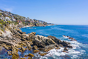 Oceanview Homes Along Laguna Beach Coastline