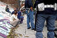 Roma 2 Novembre 2007  .Un insediamento di baracche abitato da immigrati dell' Est Europa nella zona  di Porta Portese  e stato sgomberato dalla polizia. Ritrovato anche materiale rubato                   Rome 2 November 2007                    .An installation of huts lived by immigrants of East Europe in the zone of Porta Portese  was vacated from the police. Also found again material stolen