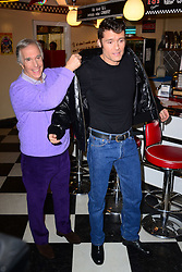 (L-R) Henry Winkler & Ben Freeman attends launch of Happy Days a new musical set to premiere at Bromley's Churchill Theatre, at Eds Easy Diner, Trocadero, London, United Kingdom. Wednesday, 8th January 2014. Picture by Nils Jorgensen / i-Images