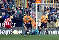 Photo: Kevin Poolman.<br />Wolverhampton Wanderers v Southampton. Coca Cola Championship. 31/03/2007. Marek Saganowski (L) of Southampton scores their first goal.
