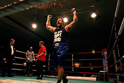 UK ENGLAND LONDON 2DEC04 - John 'The Lush' Partridge animates the crowd prior to his fight in the ring during the 4th Real Fight Club City Broker Christmas Bash at the London Mariott Hotel, Mayfair. The high-adrenaline contact sport of White Collar Boxing originated in New York 17 years ago and attracts mostly young males from the financial, legal and medical professions.....jre/Photo by Jiri Rezac ....© Jiri Rezac 2004....Contact: +44 (0) 7050 110 417..Mobile:  +44 (0) 7801 337 683..Office:  +44 (0) 20 8968 9635....Email:   jiri@jirirezac.com..Web:    www.jirirezac.com....© All images Jiri Rezac 2004 - All rights reserved.